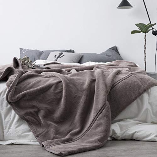 YanHui-LZC Acogedor Mantas Colcha Tiro de la Cama Individual Lanza súper Suave Manta Caliente para sofá, sofá y Cama (Color : Purple, Size : 140X200cm)