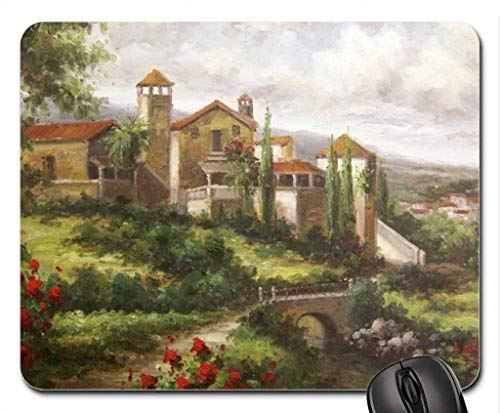 W25cm X L30cm Almohadilla para Ratón Toscana cómoda Almohadilla de viscoelástica Antideslizante