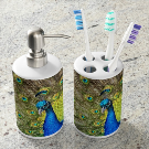 Peacock Soap Dispenser & Toothbrush Holder | Zazzle.com