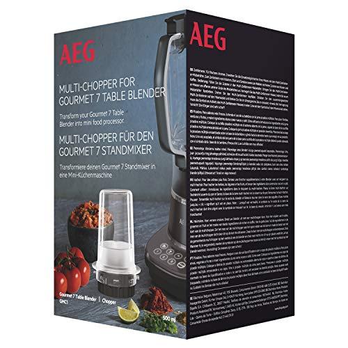 AEG GMC1 Mini-picadora multiusos, para picar o triturar, compatible con batidora de vaso Gourmet 7, Plástico