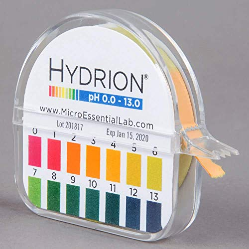 Hydrion Ph paper (93) with Dispenser and Color Chart - Full range Insta Chek ph- 0-13 (Limited Edition)