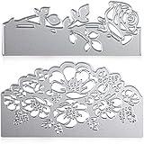 2 Piezas Troquel de Rosa Troquel de Forma de Flor Plantilla Troquel de Acero Carbono para Creación de Álbum de Recortes Manualidades de Tarjetas