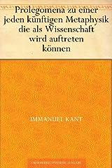 Prolegomena (German Edition) eBook Kindle