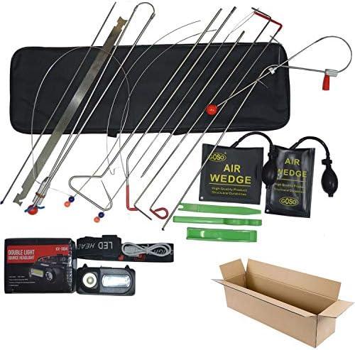 Emergency Car Repair Tool Kit 18 Piece Vehicle Door Unlocking Kit Car Door Opener Kit Unlock product image
