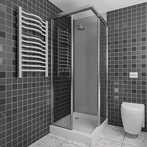 Wasserfeste Duschrückwand als Wandverkleidung 100 x 200 cm (BxL) - PVC Kunststoff Platte für die Dusche in verschiedenen Farben - Langlebige Verkleidung im Badezimmer - Duschplatte/Duschwand Hellgrau