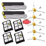 IUCVOXCVB Accesorios de aspiradora Extractor Restos Cepillo + + Filtro HEPA Cepillo Lateral Kit For El Ajuste For IRobot Roomba 800 805 860 870 880 980 Accesorios For Aspiradoras De Piezas