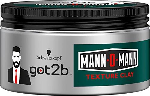 Schwarzkopf Got2b Mann-O-Mann Texture Clay, Halt 5, 2er Pack (2 x 100 ml)