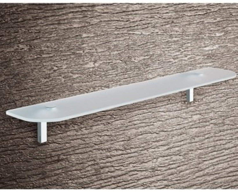 Gedy Gedy Karma Glass Shelf with Chrome Hardware, 2.75  L x 23.6  W, Gedy 3519-60-13