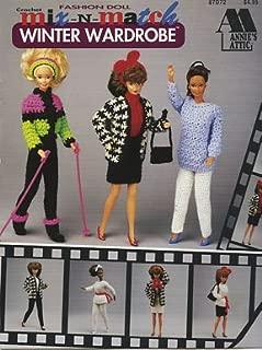 Crochet Fashion Doll Mix-n-match Winter Wardrobe (87d72)