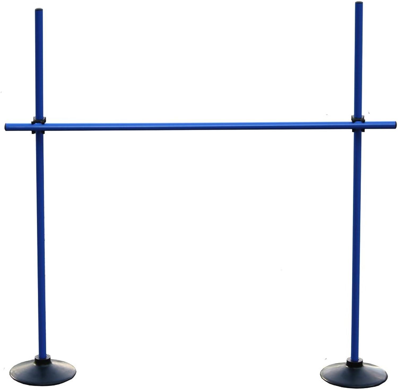 Boje Sport Sprungstangen-Set VG160bc (3 Stangen, 2 Vollgummi-Standfüße, 2 Clips) - Farbe  blau B00JBD3OX2  Großhandel