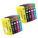 Gootior Cartucce 29XL Sostituzione per xp 245, Compatibile con 29 Expression Home XP-235 XP-247 XP-255 XP-257 XP-332 XP-335 XP-345 XP-432 XP-435(4 Nero, 2 Ciano, 2 Magenta, 2 Giallo)
