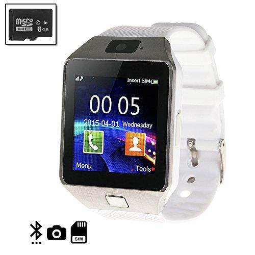 Silica DMN236WHITESD8 - Smartwatch tekkiwear Dama n236 White con Micro SD de 8gb Clase 4, Color Blanco