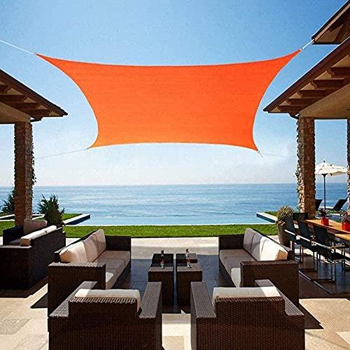 XISENOCI Sun Shade Sail Garden Wasserdichtes UV-Sonnenschutzgitter Markise Pavillon Baldachin Pergola Patio Außen Innen 2x2m, 3x3m, 5x5m, Orange-3.6x3.6m (12x12ft)