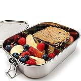 samebutgreen Brotdose Edelstahl mit Fächern - 1400ml - nachhaltige & große Lunchbox ohne Plastik für Erwachsene & Kinder
