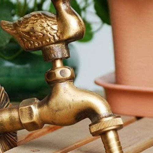 WNBNKSN Grifo de jardín Grifo de jardín con Forma de Animal Latón Antiguo Fregona de Lavado de Pato/Grifo de riego de jardín para Animales
