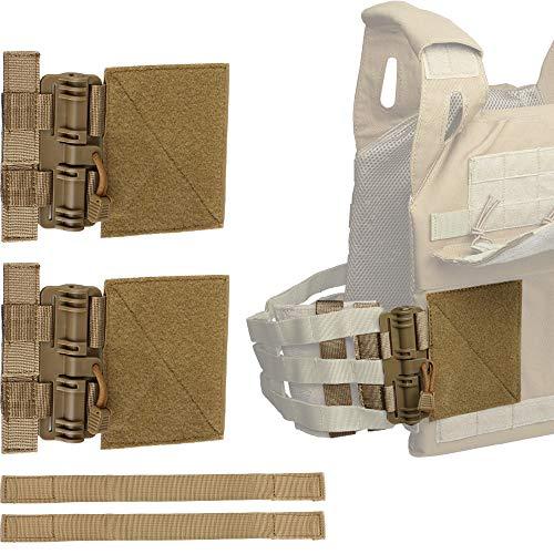 LIVANS Quick Release Buckle Set for Plate Carrier, Molle Side Belt Cummerbund Fast Fit Buckle Set Single Point Quick Release Assembly