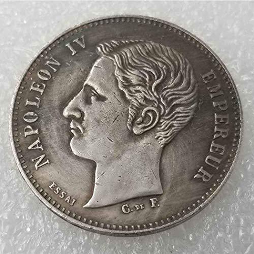 XDLiu Moneda Conmemorativa de Napoleón francés Best Silver Coins 1874, colección de Monedas Antiguas, dólar de Plata Francesa, dólar Antiguo de Morgan Dollar, Plata chapada