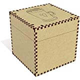Azeeda Grand 'Coeur Latte' boîte de Bijoux (JB00056490)