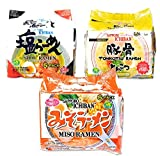 Sapporo Ichiban Ramen Noodles, 3 Flavors Variety (Pack of 30) - Tonkotsu, Shio, Miso (10 packs each) (Tonkotsu/Shio/Miso)