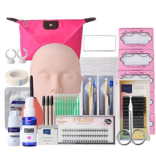 FinukGo Faux kits de pince à épiler extension individuelle Set Nail beauté maquillage cils greffe costume cils outil de gabarit - multi couleur