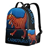 Rucksack Canvas Satchel Casual Daypack Backpack Chasmosaurus Dinosaur