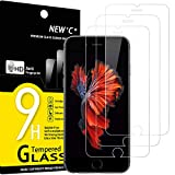 NEW'C Lot de 3, Verre Trempé Compatible avec iPhone 6 et iPhone 6S, Film Protection écran - Anti...