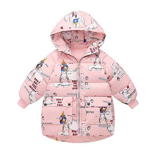 Ramingt-Clothing Veste à Capuche Kid Hiver Coton Vêtements for Enfants garçons et Filles Cartoon Coton léger à Capuche Manteau Vestes Manteaux Manteau d'hiver Mince (Color : Gray, Size : 140cm)