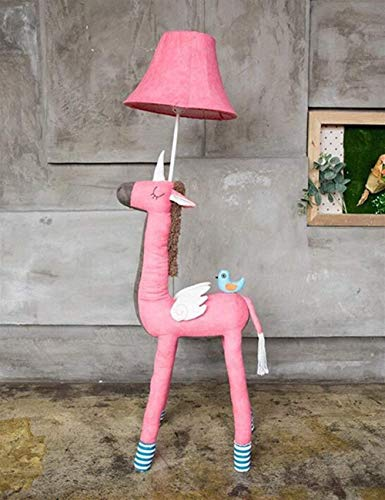 ZLININ Lámparas de suelo para niños, tela de dibujos animados, verticales, creativas, estudios para dormitorio y noche, bombilla de calor incluida, 2 (color: 1)