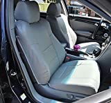 Iggee Acura TL (Not Type-S) 2004-2008 Grey Artificial Leather Custom Made Original fit 2 Front seat Covers