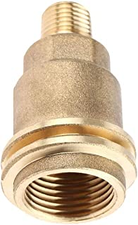 Breynet QCC1 Acme Nut Propane Gas Fitting Adapter with 1/4 Inch Male Pipe Thread Solid Brass for Propane, Natural Gas