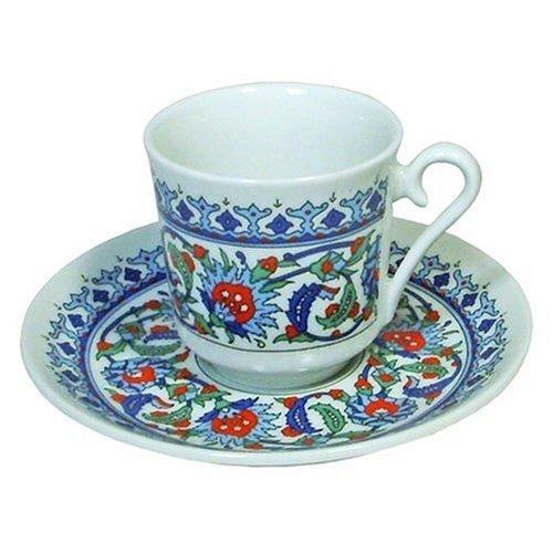 Türkische Porzellan Kaffeetasse mit Untertasse osmanischen Stil Türkischer Kaffee Tasse Espresso