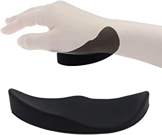 Eutuxia Mouse Wrist Rest Support Pad. Ergonomic Comfortable Design with Silicone Gel. Suitable for Office & Gaming Computer. Support for Playing Games & Office Work with Compact & Non-Slip Mat [Black]
