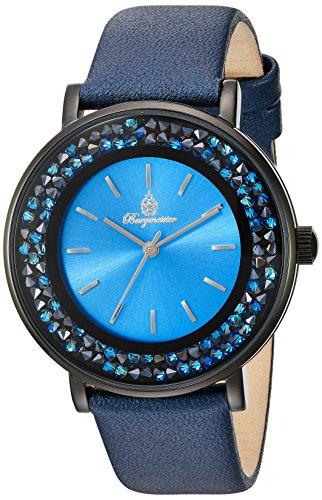 Burgmeister Armbanduhr für Damen mit Analog Anzeige, Quarz-Uhr und Lederarmband - Wasserdichte Damenuhr mit zeitlosem, schickem Design - klassische, elegante Uhr für Frauen - BM537-633 St. Lucia