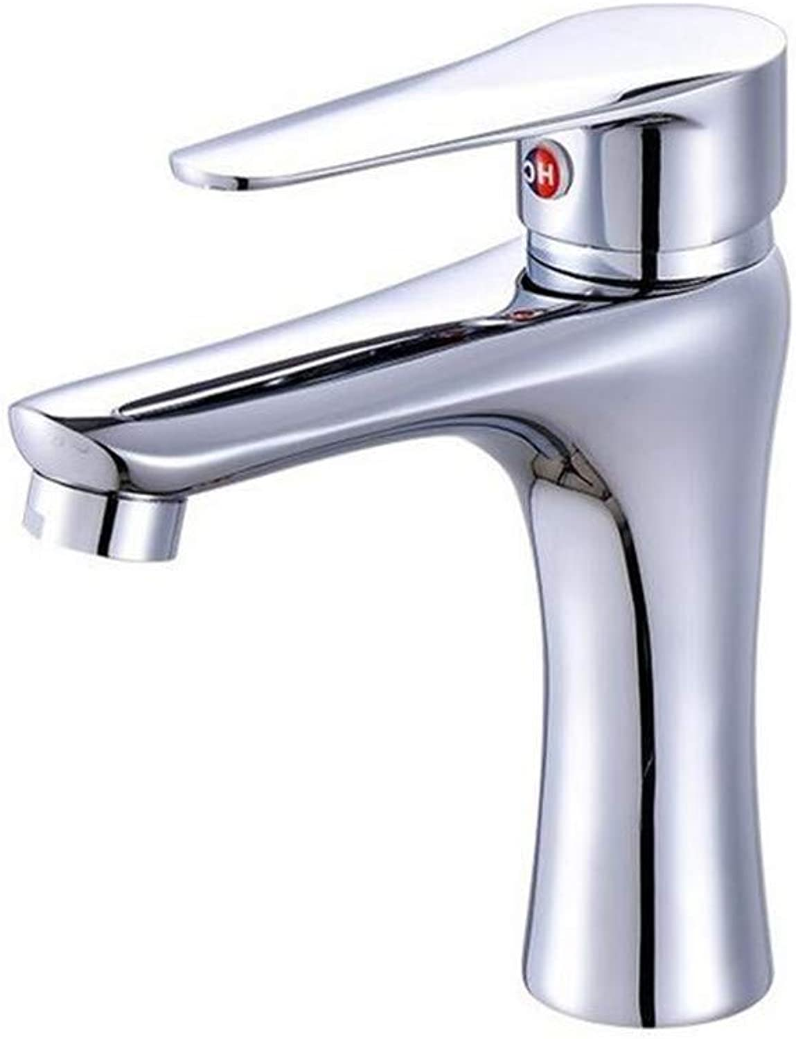 Basin Mixer Tap Single Single Hole Cold and Hot Water Mixing Faucet Dripping Single Hole Basin Faucet