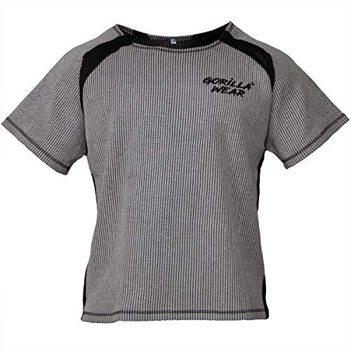 Gorilla Wear Bodybuilding T-Shirt - Old School Work Out Top Herren - Augustine Rag Top Grau L/XL