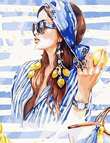 WYMAL Malen nach Zahlen,für Erwachsene Kinder Anfänger,DIY Handgemalt Ölgemälde Kits,Wand Leinwand Kunst Dekoration Geschenk Ohne Rahmen,Enthält Acrylfarben und 3...