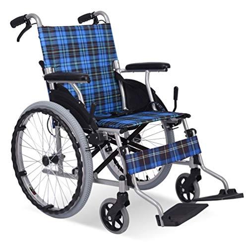 Cajolg Dsgjjn Rollstuhl Faltbar,Rahmen aus hochbelastbarer Aluminiumlegierung hohe tragfähigkeit Erwachsene Rollstühle,Rollator Faltbar Leichtgewicht