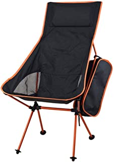 ASdf Portable Collapsible Moon Chair Fishing Camping BBQ Stool Folding Extended Hiking Seat Garden Ultralight Office Home Furniture