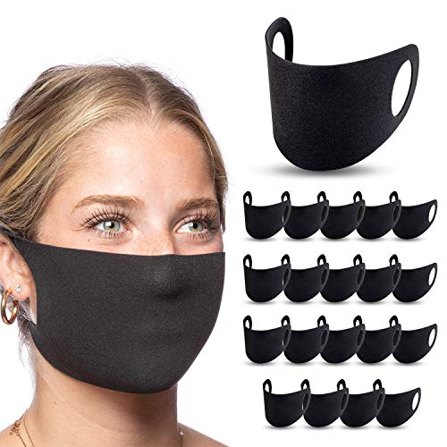 Reusable Face Masks Disposable - Face Masks for Germs - Face Masks Made In USA - Breathable Face Masks - Protective Face Masks - Black Face Masks - Magique BreathEasy, 2 Pack of 10 (20 pcs)