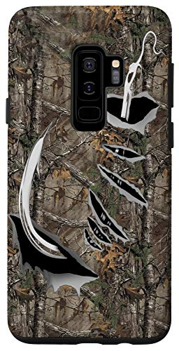Galaxy S9+ Fish Hook Realtree Camouflage Fabric Case Funny Fishing Case
