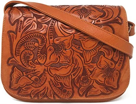 Mauzari Women s Saddlebag Purse Leather Crossbody Natural product image