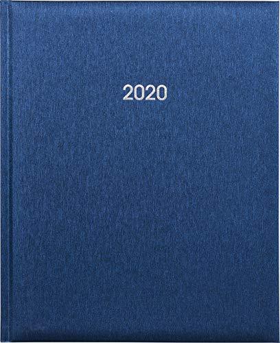 Buchkalender 21x26cm metallic-blau 2 Seiten für 1 Woche Tango-Einband Marke Adina
