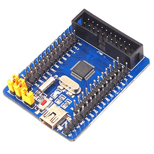 Libertroy Arm Cortex-M3 Stm32F103C8T6 Stm32 Tablero de Aprendizaje Tablero básico Mini Tablero de Desarrollo Tablero de Aprendizaje Ultra pequeño - Azul