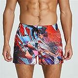 Sygjal Shorts Casuales para Hombre Impresos Sueltos Bolsillo Playa Pantalones Cortos de Verano Correr Corriendo Ropa Deportiva 2XL Surffing Pantalones Cortos Troncos (Color : 2, Size : M)