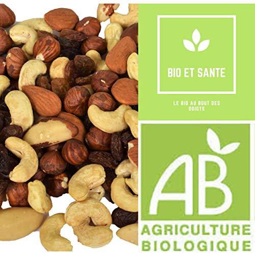 Mélange de fruits secs Bio De Qualité Extra, 1 Kg, Fruit Sec Energétique Pour Votre Apport En Vitamines et Minéraux Contribueront aux Bienfaits et à la Santé de Votre Organisme