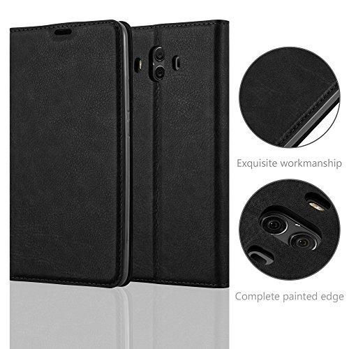 Cadorabo Hülle für Huawei Mate 10 - Hülle in Nacht SCHWARZ – Handyhülle mit Magnetverschluss, Standfunktion und Kartenfach - Case Cover Schutzhülle Etui Tasche Book Klapp Style - 6