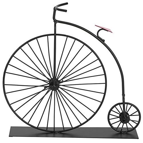 HEEPDD Modelo de Bicicleta Vintage, Kit de Modelo de Metal de Bicicleta de Rueda Alta 3D Modelo de Bicicleta Exquisito para decoración del hogar Gran Regalo de cumpleaños