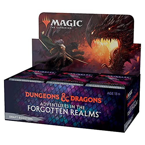 Booster de Draft de Magic: The Gathering Adventures in Forgotten Realms | 36 boosters (540 cards de Magic) - Em Inglês