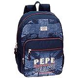 Pepe Jeans Dales Jr Mochila Escolar, 42 cm, 21.42 litros, Azul