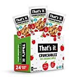 That's it. Crunchables Fruit Snacks for Kids 100% Organic Apple, Deliciously Healthy and Light, Plant-Based,Non-Gmo, Gluten Free, USDA Approved Snacks 24 Packs (8.5 g)